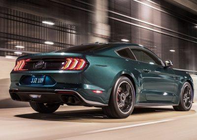 Ford Mustang Bullitt 2018 vue dynamique arrière